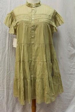 NWT Étoile Isabel Marant Baby Doll Ruffle Trim Dress 42 S M