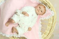 Opened Eye Reborn Toddler Doll Girl  Realistic 18in  Baby Do