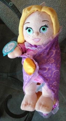 Disney Park Baby Rapunzel in a Blanket Plush Doll NEW