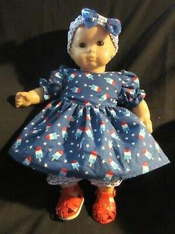 """Patriotic Popsicle Dress 15"""" Doll Clothes Made To Fit Americ"""