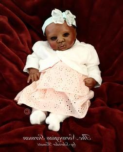 Petite Preemie Reborn Art Doll | Black | Baby In A Basket