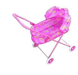 pink double stroller for baby doll great