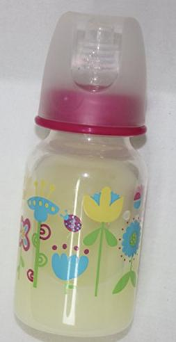 Reborn Girl Pink Flowers Sealed Fake Faux Formula Milk Bottl