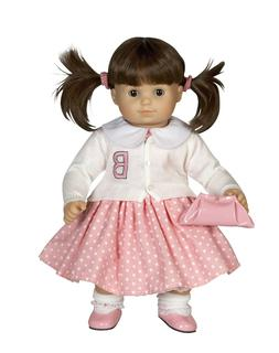 Pink Polka Dot Dress for American Girl® or Bitty Baby® typ