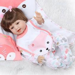"Pinky 22"" Reborn Baby Dolls Girl Realistic Silicone Newborn"