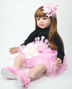 Pinky Reborn Toddler 24inch Real Life Size Reborn Baby Dolls