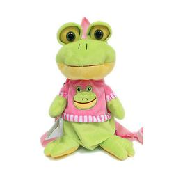 Plush Frog Anti-lost Harness Leash Backpack Travel Pillow Do
