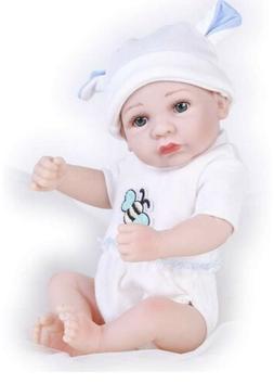 Pompon 10 Inches Lifelike Reborn Baby Dolls Realistic Handma