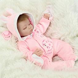 "16"" Pretty Simulation Silicone Baby Girl Reborn Baby Doll in"