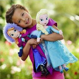Princess Anna & Elsa Plush Doll SET Birthday Toys Unique Gif