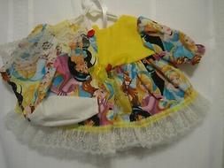"""Princess's dress, bonnet, panties 15-16"""" baby dolls - Cabbag"""