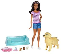 Barbie Newborn Pups Doll, Brunette