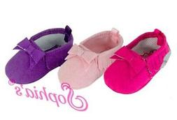 Purple Fringe Moccasins for Bitty Baby 15 inch Doll Shoes LO