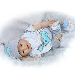 Pursue Baby 22 Inch Lifelike Sweet Baby Boy Doll, Brown Eyes