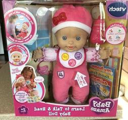 RARE VTECH BABY AMAZE: LEARN TO TALK & READ BABY DOLL, BRAND