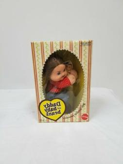 RARE Vintage 1975 Mattel Daddy and Baby Beans Dolls NOS