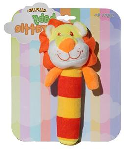 Calplush Baby Rattles - Lion Plush Animal Toy