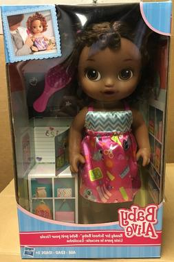 Baby Alive Ready for School Baby Doll Set- Brunette