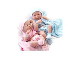 JC Toys Real Newborn Baby Boy and Girl Baby Dolls