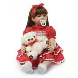 """Real Life Baby Dolls 24"""" Silicone Bebe Reborn Toddler Dolls"""