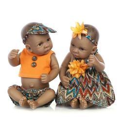 "Real Looking Black India Reborn Baby Dolls 10"" Bath Full Bod"