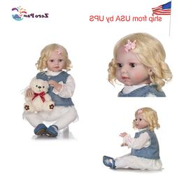 """Realistic 28"""" Reborn Toddler Girl Doll Weighted Cloth Body R"""