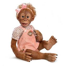 Realistic Baby Monkey Doll by Ina Volprich Holds Every Pose