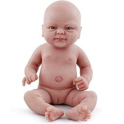 vollence 14 Inch Realistic Real Baby Doll,PVC Free,Full Body