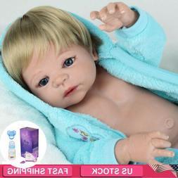 "Realistic Reborn Baby Dolls 22"" Full Body Soft Vinyl Silicon"