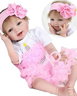 NPK Realistic Reborn Baby Doll Girl Newborn Baby Silicone Vi