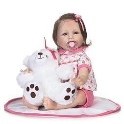 NPK Realistic Newborn Reborn Baby Doll Soft Silicone Vinyl L