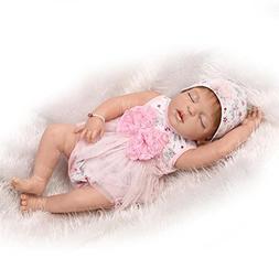 Realistic Reborn Baby Dolls Girl Sleeping Silicone Full Body