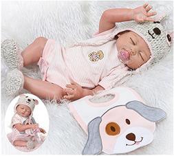 NPK Realistic Reborn Baby Dolls Girl Full Body Silicone 20 i