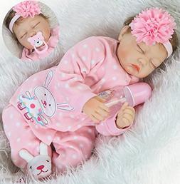 Realistic Reborn Baby Dolls Girl Sleeping Soft Vinyl Silicon