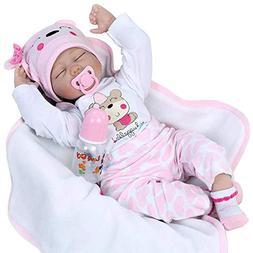 Seedollia Sleeping Reborn Baby Doll Girl Silicone Eyes Close