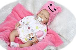 HUAPUDA Realistic Lovely Sleeping Reborn Baby Doll Silicone
