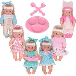 Young Buds Pack of 6 9-10-11 Inch Reborn Alive Baby Doll Bab