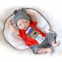 Reborn Baby Boy Doll  Lifelike Handmade Full Silicone Vinyl