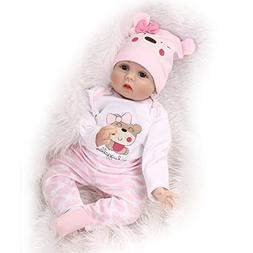 "MaiDe Reborn Baby Dolls 22"" Cute Realistic Soft Silicone Vin"