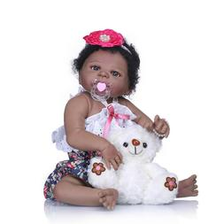 22' Reborn Baby Dolls Silicone Full Body Realistic African A