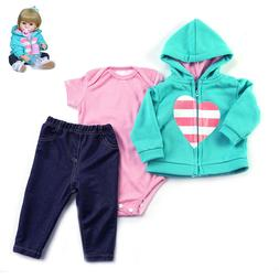 Reborn Baby Doll Accessories Clothes Outfit Fit for 24~24 in
