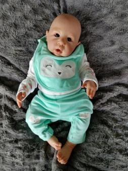 Reborn Baby Doll Awake Newborn Girl Anna Maria By Linde Sche