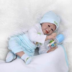 Reborn Baby Doll Lifelike Baby Dolls 22'' Vinyl Silicone New