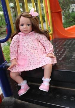 Reborn Baby Doll Silicone Toddler Girl Handmade Gifts Realis