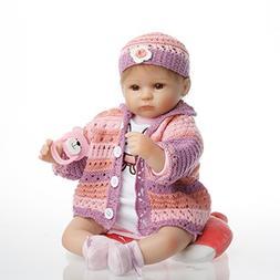 SanyDoll Reborn Baby Doll Vinyl Newborn 18 inch 45 cm Lovely