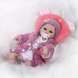 """Reborn Baby Dolls 18"""" Cute Realistic Soft Silicone Vinyl Dol"""