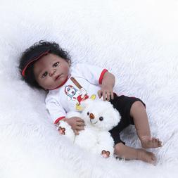 "Reborn Baby Dolls African American 23"" Full Body Silicone Ba"