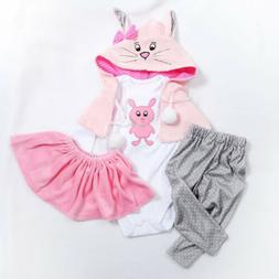 Reborn Baby Dolls Clothes Girl For 22-24 inch Doll Accessori