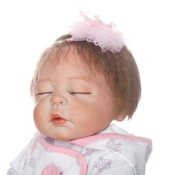 Reborn Baby Dolls Full Body Vinyl Silicone 18in Lifelike Dol