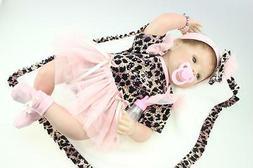Reborn Baby Girl Doll 22'' Soft Bodies Silicone Vinyl Alive